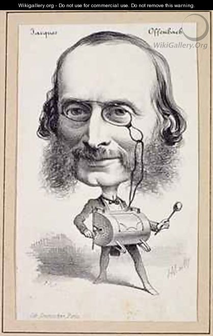 Portrait of Jacques Offenbach - Hippolyte Mailly