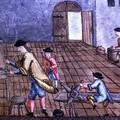 View of a Silversmiths Workshop from Libre de Passenties per Argenters 1762 - Felip Mares