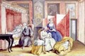 Joseph II 1741-90 at the bedside of his wife Isabella of Parma following the birth of their daughter Maria Theresa 1762-1770 1762 - Archduchess of Austria Maria Christine