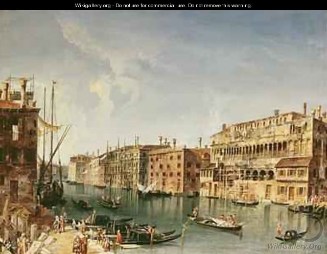 Venice Grand Canal and the Fondaco dei Turchi - Michele Marieschi