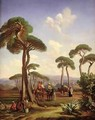 Arabs and Camels in Wooded Landscape - Prosper-Georges-Antoine Marilhat