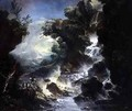Landscape with Waterfall - Antonio Marini