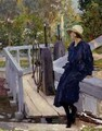 Girl by a Lock - William Henry Margetson