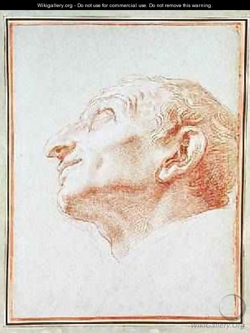Study for the head of St Charles Borromeo - Carlo Maratta or Maratti