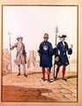 Eighteenth Century Parisian Troops Watchman and Archers of the Town in Ceremonial Uniform - (after) Marbot, Alfred de