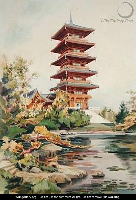 Japanese Tower in the Royal Park at Laeken Belgium 3 - (after) Marcel, Alexandre Auguste Louis
