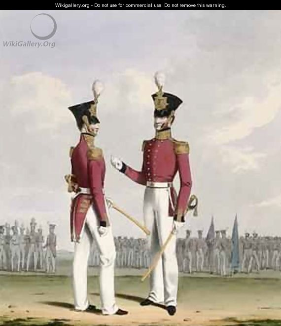Field Officers of the Royal Marines plate 2 from Costume of the Royal Navy and Marines - L. and Eschauzier, St. Mansion