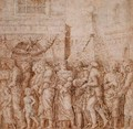 Study for the seventh canvas of the Triumph of Caesar - (after) Mantegna, Andrea