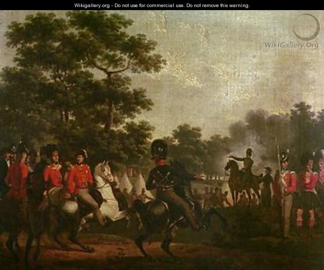 Duke of Wellington visiting outposts - Hippolyte Lecomte