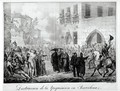 Destruction of the Inquisition in Barcelona - Hippolyte Lecomte