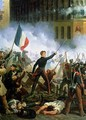 Battle in the Rue de Rohan 2 - Hippolyte Lecomte