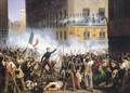 Battle in the rue de Rohan - Hippolyte Lecomte