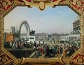 Re-establishment of the Statue of Henri IV 1553-1610 on Pont Neuf - Hippolyte Lecomte