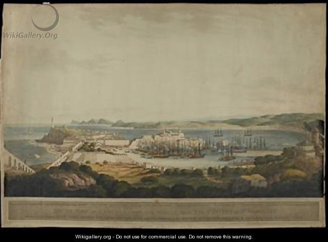 South View of Corunna from the Heights near the Convent of St Margaret - (after) Lee, Francis