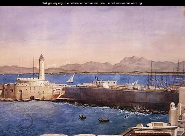 The Harbour and Jetty at Algiers - Theodore Leblanc
