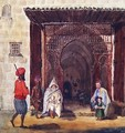 Entry of a mosque in Algiers - Theodore Leblanc