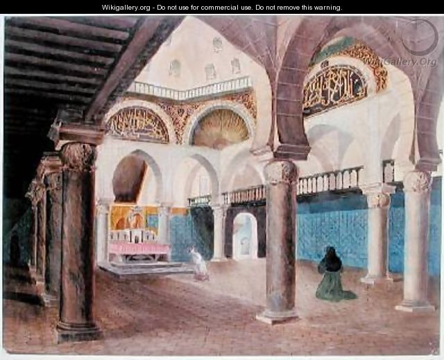 Interior of a Mosque Converted into a Bishops Palace Algiers - Theodore Leblanc