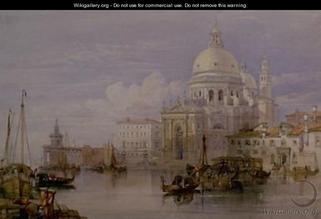 Santa Maria della Salute from the Grand Canal - William Leighton Leitch
