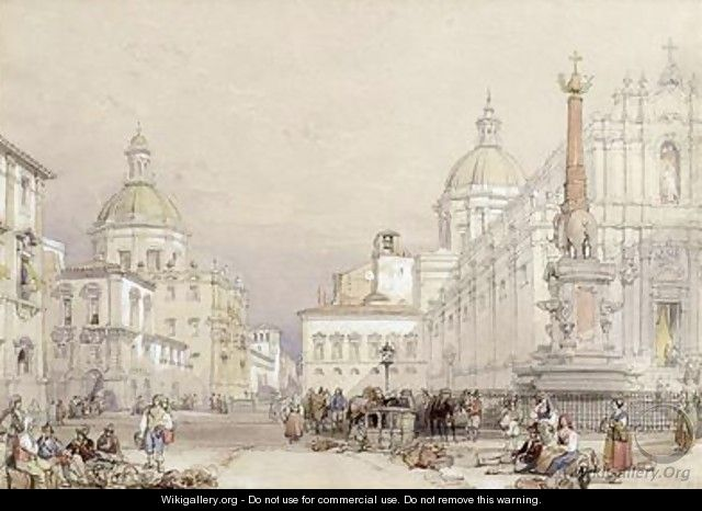 The Square of the Elephant Catania - William Leighton Leitch