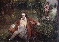 Postcard depicting Ludwig van Beethoven 1770-1827 in the forest - (after) Leithner, Hans