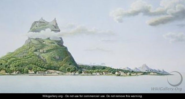 View of the Island of Bora Bora - (after) Lejeune and Chazal, Antoine