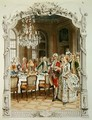 Elegant meal during the Eighteenth century - Maurice Leloir