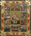 Icon of Saint Nicholas with scenes of his life and miracles - Laskaris Leichoudis