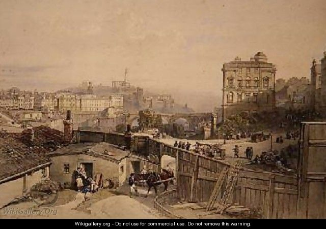 Edinburgh from the Mound - William Leighton Leitch