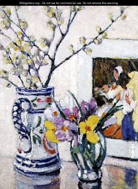 Still life with flowers in a vase - Rowley Leggett