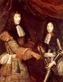 Louis II 1621-86 de Bourbon and his son Henri-Jules 1643-1709 Duke of Enghien - Claude Lefebvre