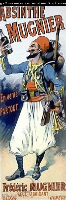 Reproduction of a poster advertising Absinthe Mugnier - Lucien Lefevre