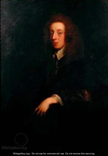 Portrait of the Poet Waller 1606-87 - Sir Peter Lely