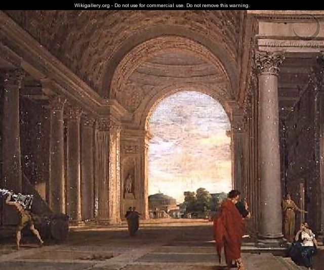 The Interior of a Church in Rome - Pierre (Lemaire-Poussin) Lemaire