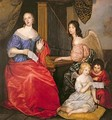 Francoise Louise 1644-1710 Duchess of La Valliere with her Children as Angels - Sir Peter Lely