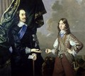 Double Portrait of Charles I 1600-49 and James Duke of York 1633-1701 - Sir Peter Lely