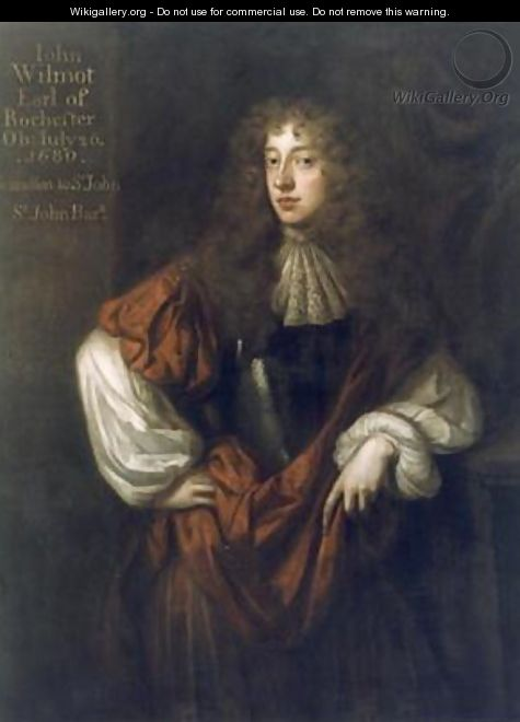 Portrait of John Wilmot 1647-80 2nd Earl of Rochester 2 - Sir Peter Lely