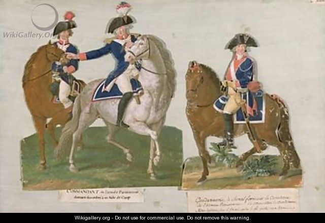 Army Commander and an Officer of the Mounted Police - Brothers Lesueur
