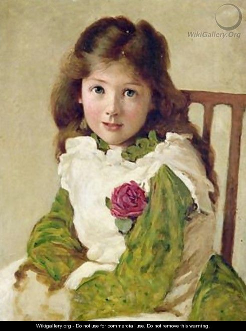 Portrait of the Artists Daughter - George Dunlop, R.A., Leslie