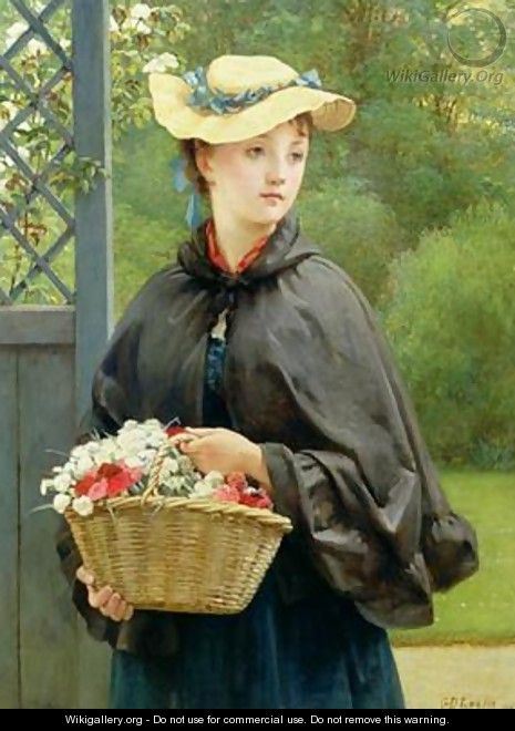 The Gardeners Daughter 1876 - George Dunlop, R.A., Leslie