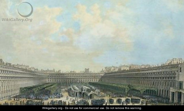 The Garden of the Palais Royal - Louis-Nicolas de Lespinasse