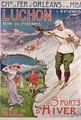Poster advertising the resort of Luchon with the Chemins de Fer dOrleans - Ernest Louis Lessieux