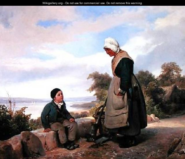 Peasant Woman and Boy - Leopold Leprince