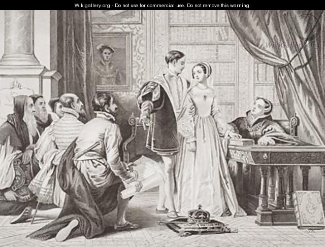 Lady Jane Greys reluctance to accept the crown Sion House - Charles Robert Leslie