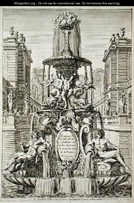 Title page from Fountain and Waterjets in the Italian Style - Jean Lepautre