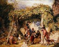 Figures and Animals in a Vineyard - John Frederick Lewis