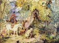 A Sketch for Foresters Stalking Deer - John Frederick Lewis