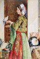 Girl with Two Caged Doves Cairo - John Frederick Lewis