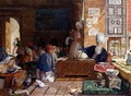 Interior of a School Cairo 4 - John Frederick Lewis