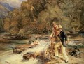 Landseer and Lewis Fishing - John Frederick Lewis