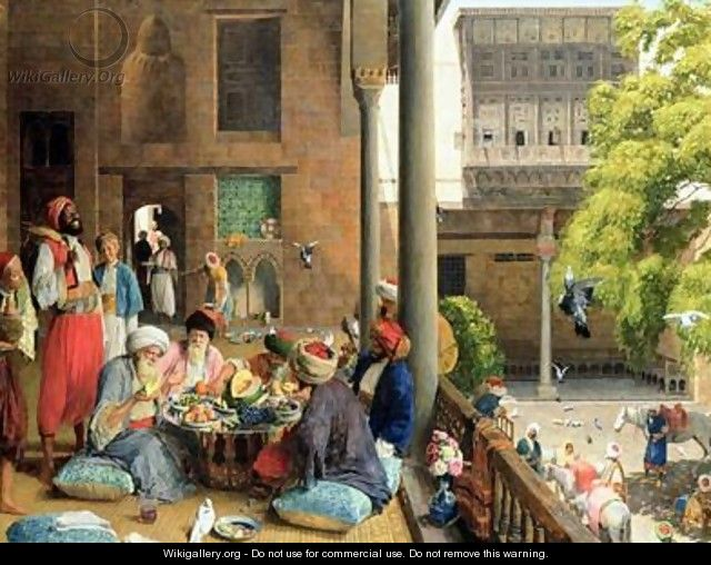 The Midday Meal Cairo - John Frederick Lewis